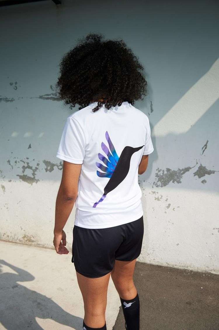 Suzanne Jersey - Hummingbird Purple & Blue - Women's Football - Back view