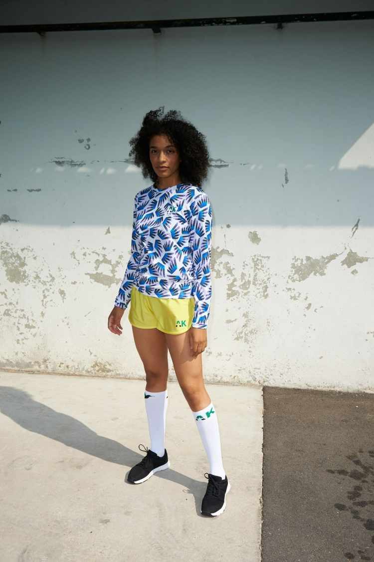 Gigi Jersey - Winged Blue & Purple pattern - Women's Football - Front view