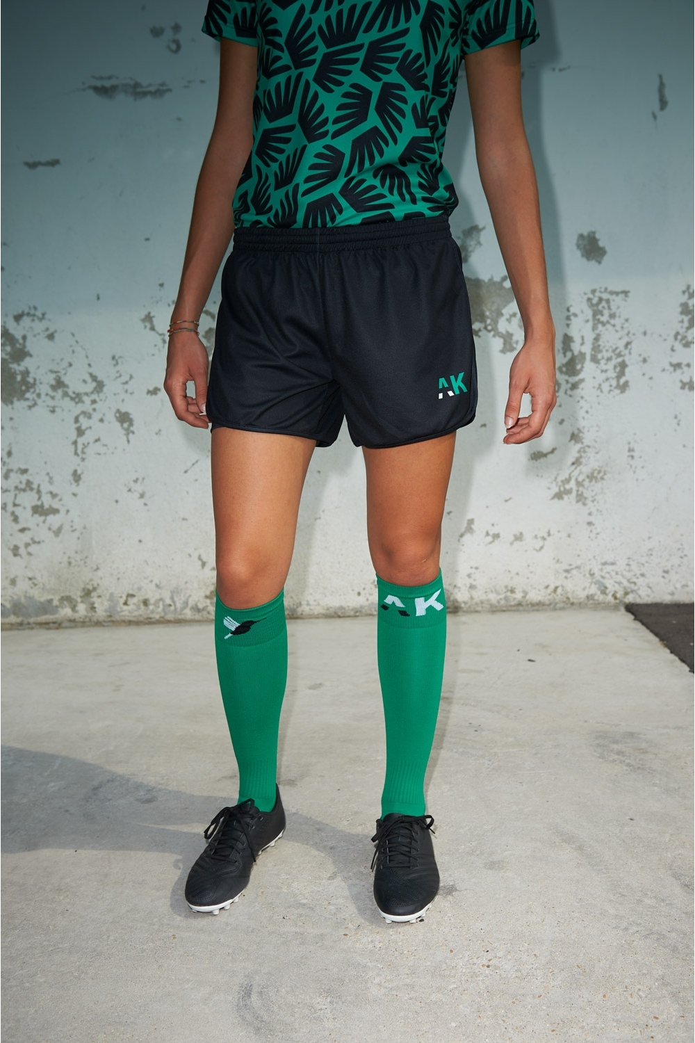 Short with under short Mia - Women's Football - Front view