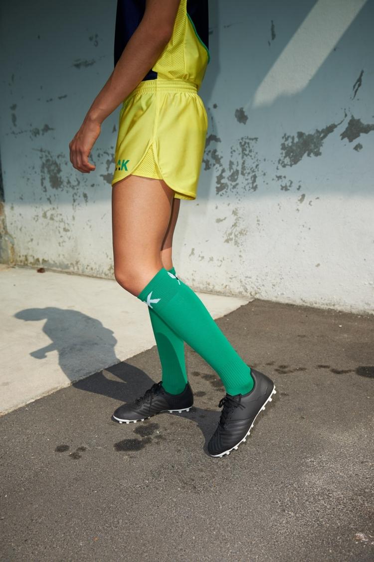 Nettie Primula Short - Yellow - Women's Football - Side view